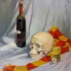 Skull Scarf Wine
